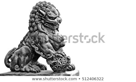 Chinese temple tiger statue Stock photo © elwynn