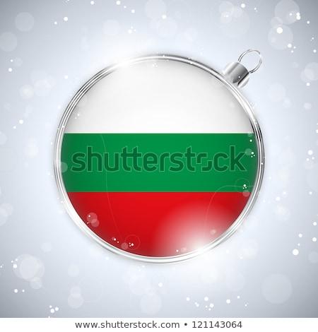陽気な クリスマス 銀 ボール フラグ ブルガリア ストックフォト © gubh83