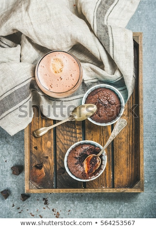 muffins in a wooden tray stock photo © photooiasson