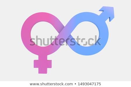 Férfi női egyenlőség 3d render egy férfi Stock fotó © Elenarts