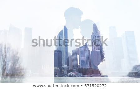 meghitt · pár · iroda · közelkép · számítógép · szeretet - stock fotó © AndreyPopov