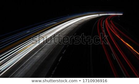 Fény nyaláb éjszaka autók fő- út Stock fotó © meinzahn