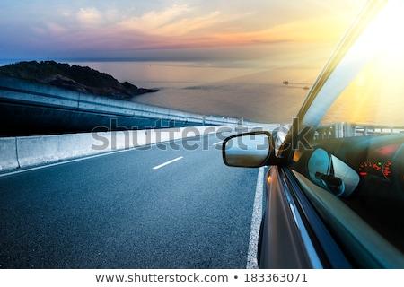 pôr · do · sol · em · torno · de · canto · estrada · sol · Cidade · do · Cabo - foto stock © bradleyvdw