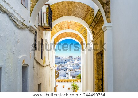 vejer de la frontera costa de la luz spain stock photo © amok