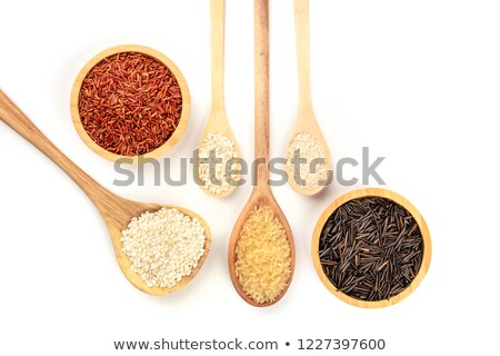 Wild rice, brown basmati and red camargue background Stock photo © sarahdoow