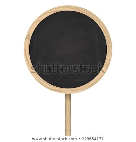 Blackboard standing on wooden post Stock photo © opicobello