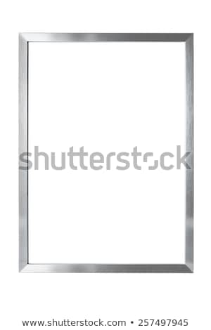 picture metallic frame isolated on white background stock photo © smeagorl