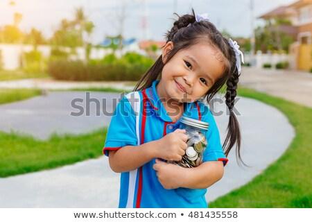 молодые портрет красивой брюнетка позируют красочный Сток-фото © lithian