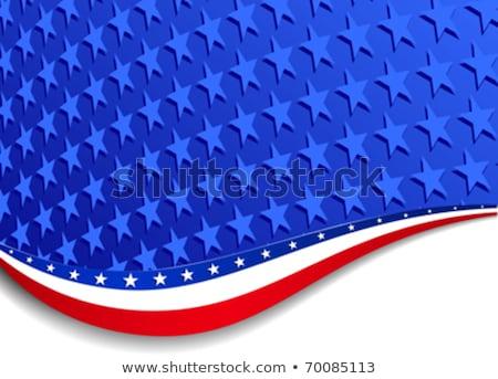 4th of july american independence day flag celebration swirl wav stock photo © bharat