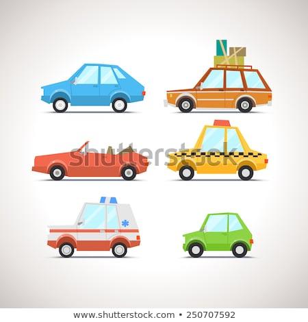retro small hatchback set stock photo © voysla