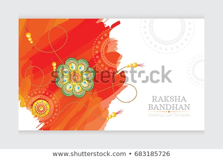 Vector Indian festival greeting card Raksha Bandhan colorful rak Stock photo © bharat