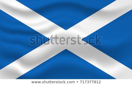 Escócia bandeira vento nublado céu Foto stock © michaklootwijk