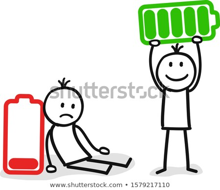 businessman and with empty battery stock photo © ustofre9
