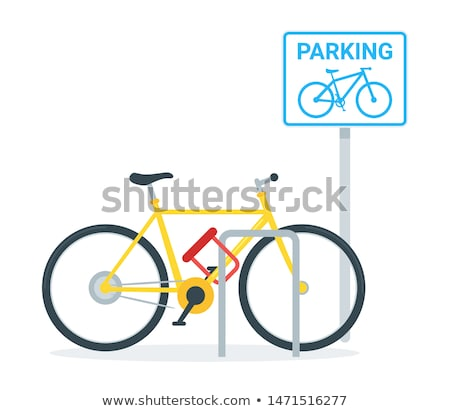 Locked bicycle Stock photo © gemenacom