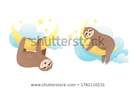 baby sleeping on the moon stock photo © adrenalina