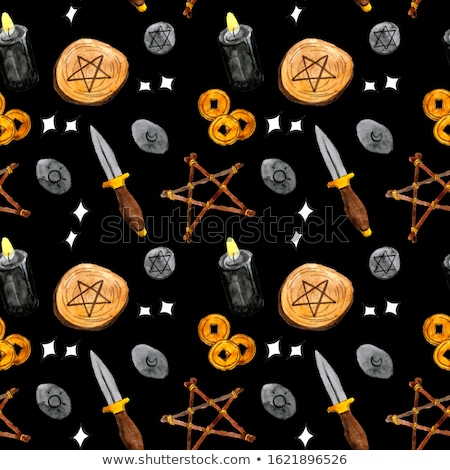 halloween symbols seamless pattern contrast stock photo © voysla