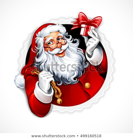 Santa Claus vintage greeting card Stock photo © marimorena