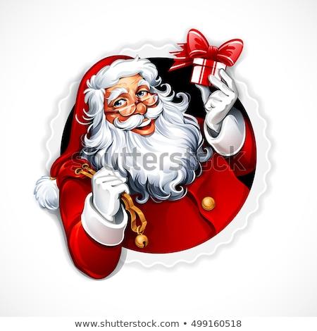 santa claus vintage greeting card stock photo © marimorena