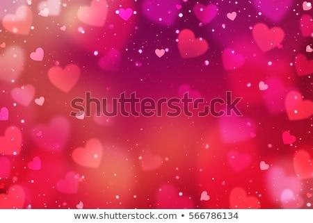 Abstract cuori carta ombra san valentino cuore Foto d'archivio © -Baks-
