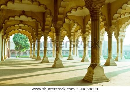 Pijler galerij fort architectuur asian marmer Stockfoto © zastavkin