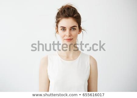 Сток-фото: портрет · довольно · модель · девушки · информации