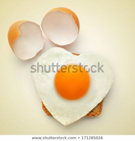 Ovo frito retro efeito festa amor Foto stock © nito