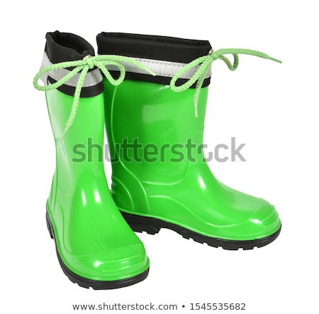 rubber boot isolated on white background stock photo © ozaiachin