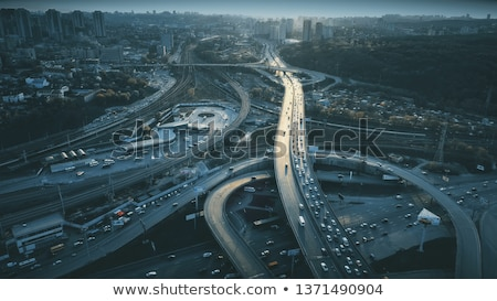 Highway with junction and bridge - rush concept