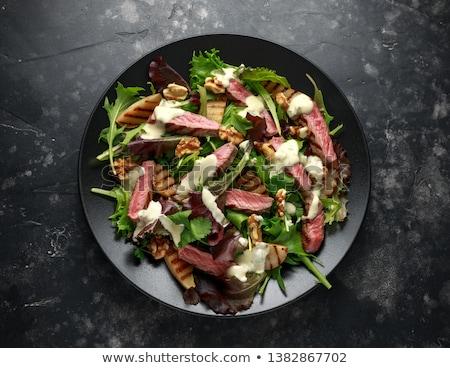 牛肉 · 混合した · 新鮮な · 食品 · プレート · 工場 - ストックフォト © ironstealth