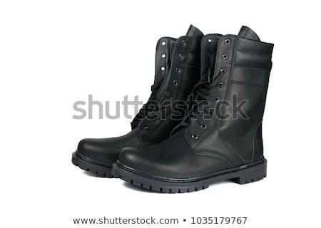 黒 ブーツ 孤立した 白 ストックフォト © ozaiachin