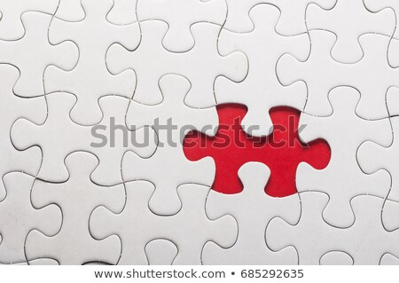 Analysis - Jigsaw Puzzle with Missing Pieces. Stock photo © tashatuvango