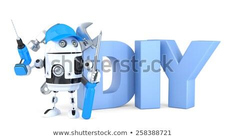 munkaerő · 3d · render · kék · doboz · szöveg · fehér - stock fotó © kirill_m