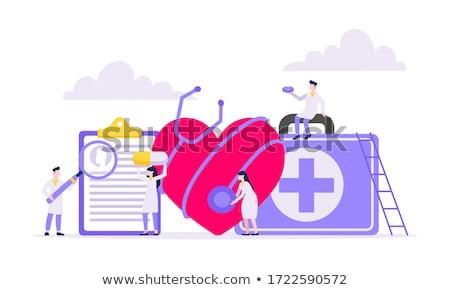 diagnóstico · médico · impresso · vermelho · pílulas · seringa - foto stock © tashatuvango