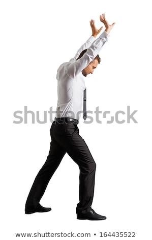 business man push up something stock photo © fuzzbones0