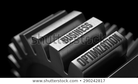 Produtivo capacidade metal engrenagens preto negócio Foto stock © tashatuvango