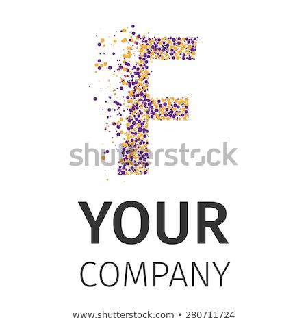 Alfabet cząstki logo wektora Zdjęcia stock © netkov1