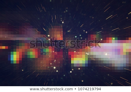 Black Pixelated Abstraction Stock photo © derocz