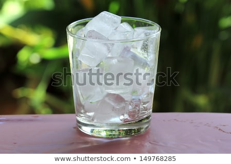 glass with ice cubes Stock photo © ozaiachin