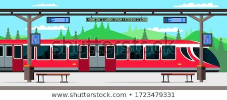 metro · trein · bewegende · station · business · stad - stockfoto © paha_l
