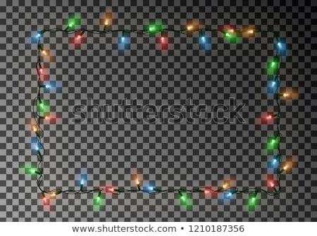 Bianco Natale illuminazione fotogrammi copia spazio design Foto d'archivio © Voysla