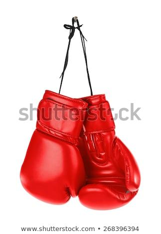 Vermelho luvas de boxe círculo esportes copo lutar Foto stock © mayboro1964