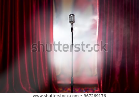 Retro Stage Microphone Stock photo © Bigalbaloo