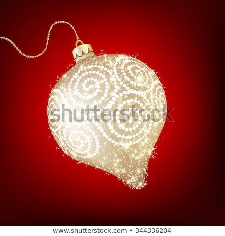 Twinkling gold bauble. EPS 10 Stock photo © beholdereye