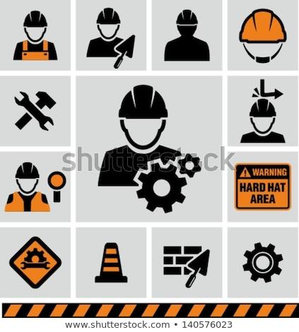 építők védősisak 3d render építkezés munka bár Stock fotó © kjpargeter