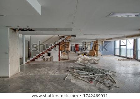 Velho prédio comercial branco escritório casa edifício Foto stock © bluering