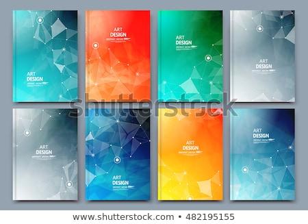Orange Cover annual report brochure flyer book cover  polygon ba Stock photo © ganpanjanee