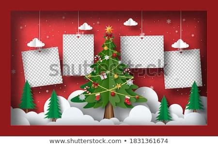 Stockfoto: Christmas · groet · kaart · oude · foto · frame