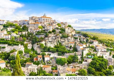 красивой исторический деревне Франция небе синий Сток-фото © pumujcl