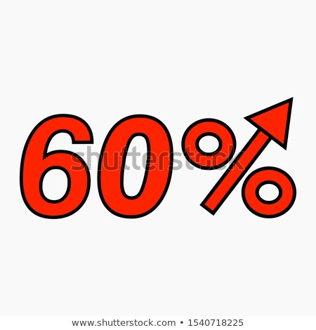 Stock photo: Red percent increase