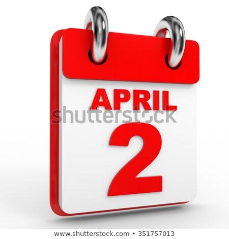 Második naptár webes gomb második autizmus nap Stock fotó © Oakozhan